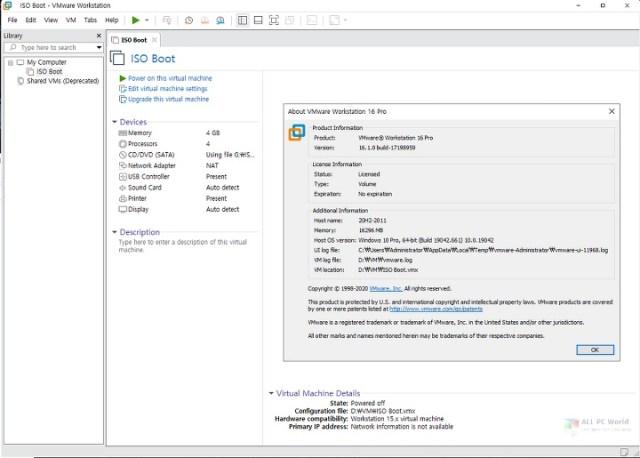 Descarga de la versión completa de VMware Workstation Pro 16.1