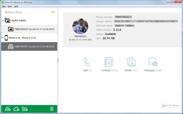 Elcomsoft Explorer para WhatsApp Forensic Edition 2.76 Descarga de la versión completa