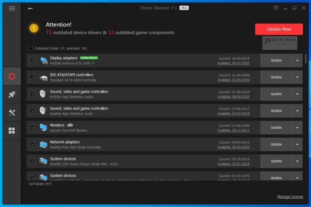 IObit Driver Booster Pro 8.1 Descarga con un clic