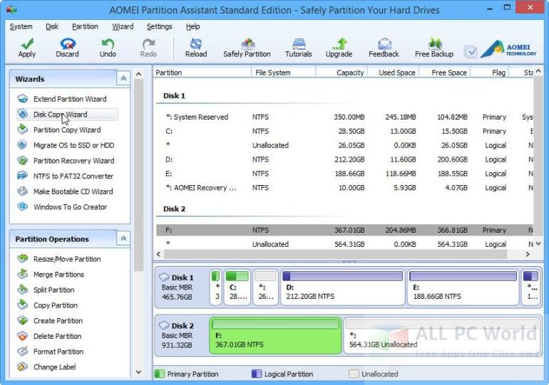 Revisión de AOMEI Partition Assistant Standard 6.0