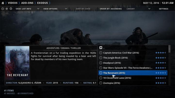 Revisión y características de Kodi 15.2 Player