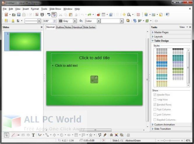 Revisión y características de LibreOffice Portable