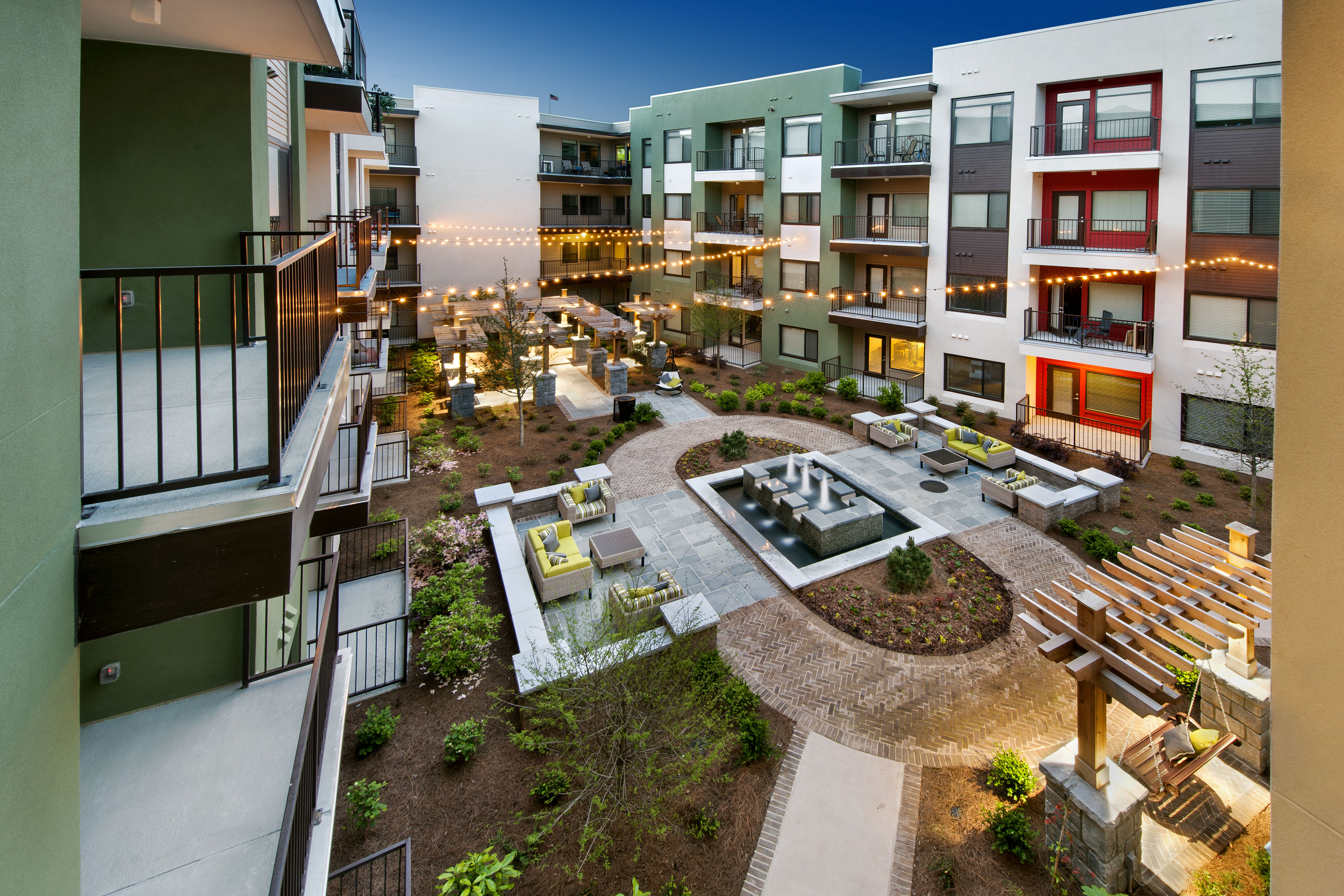 Ecofriendly apartments support a green lifestyle in