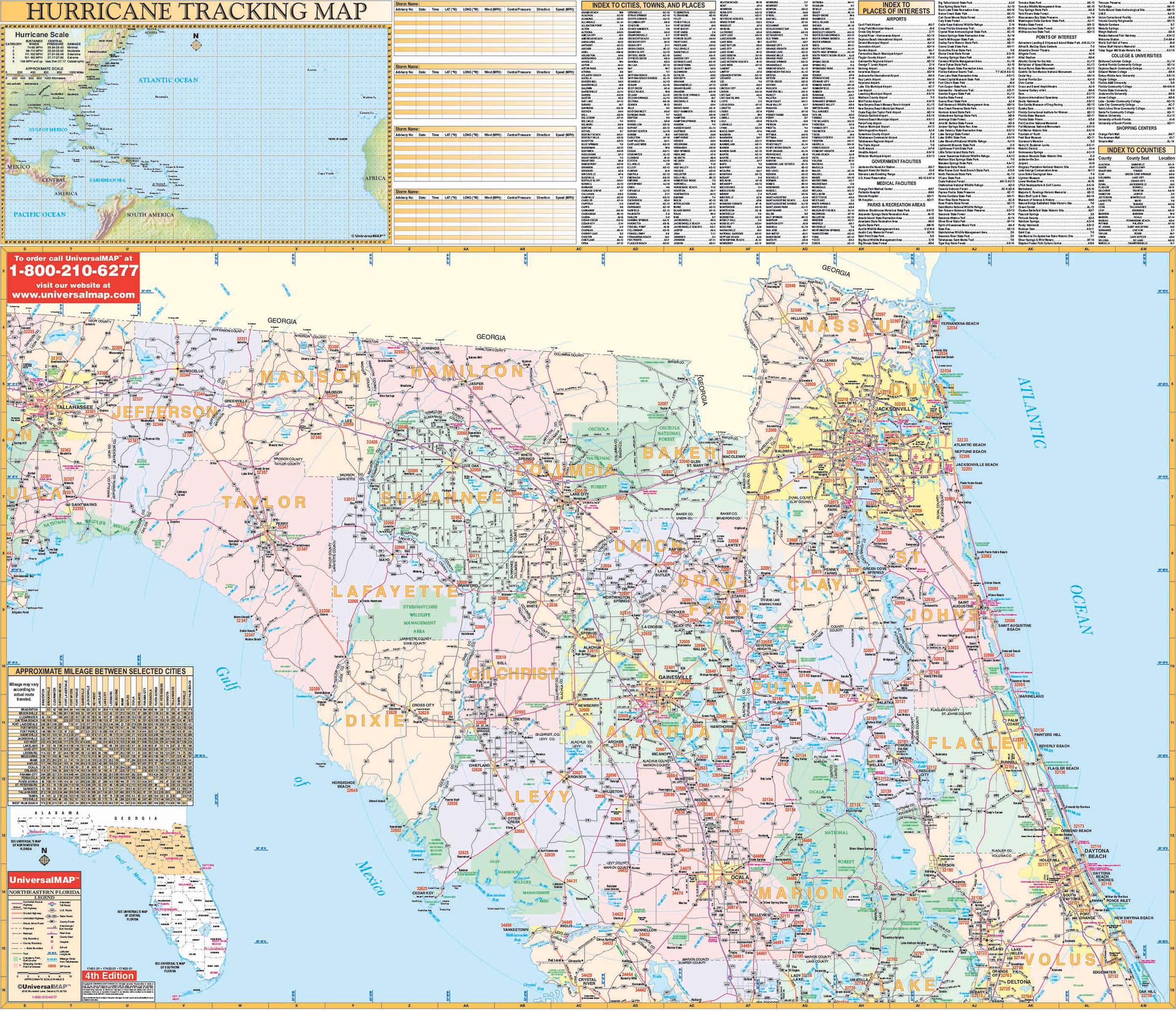 Florida State Northeast Regional Wall Map Kappa Map Group