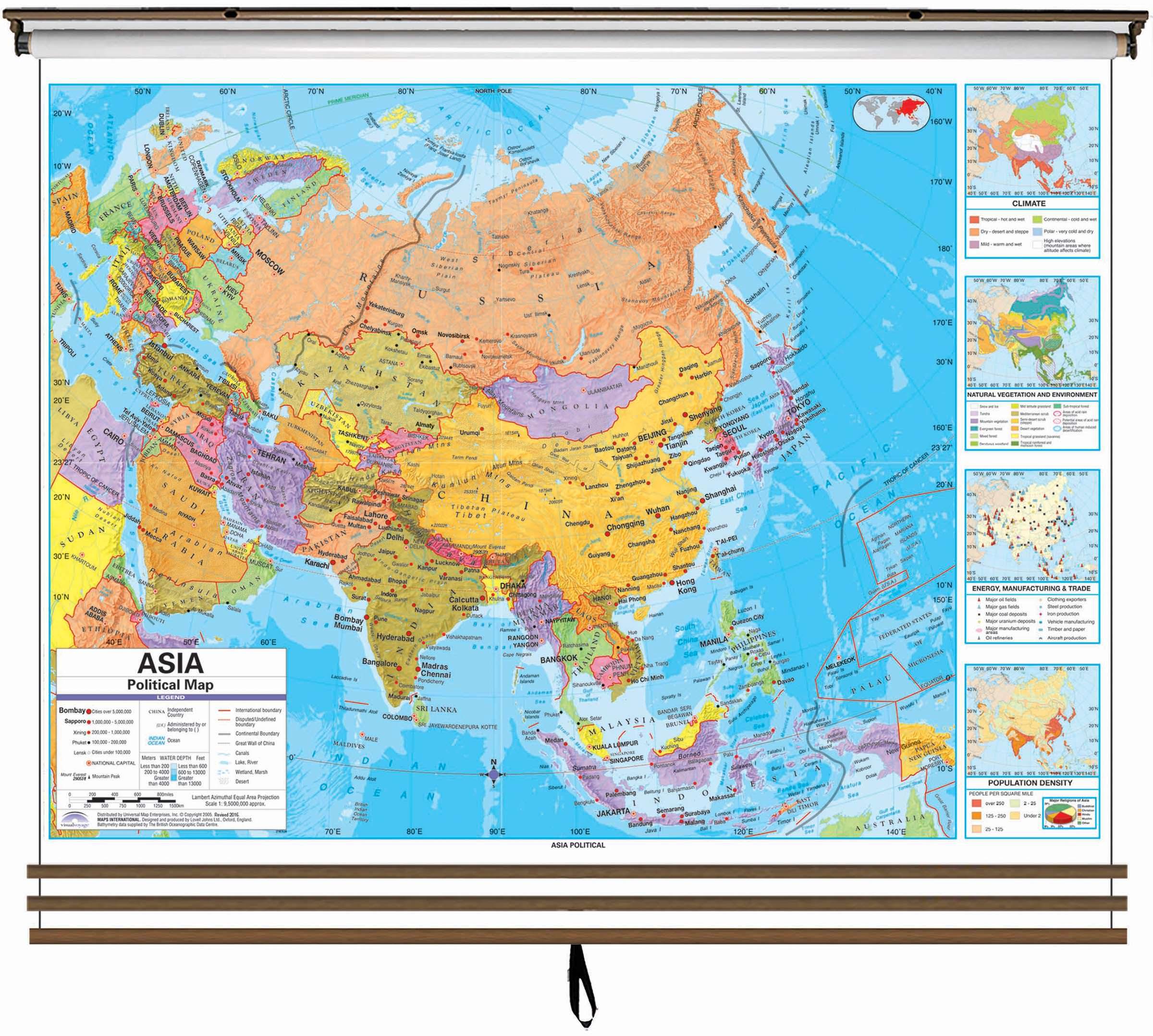 Eastern Hemisphere Advanced Political Wall Map Set On