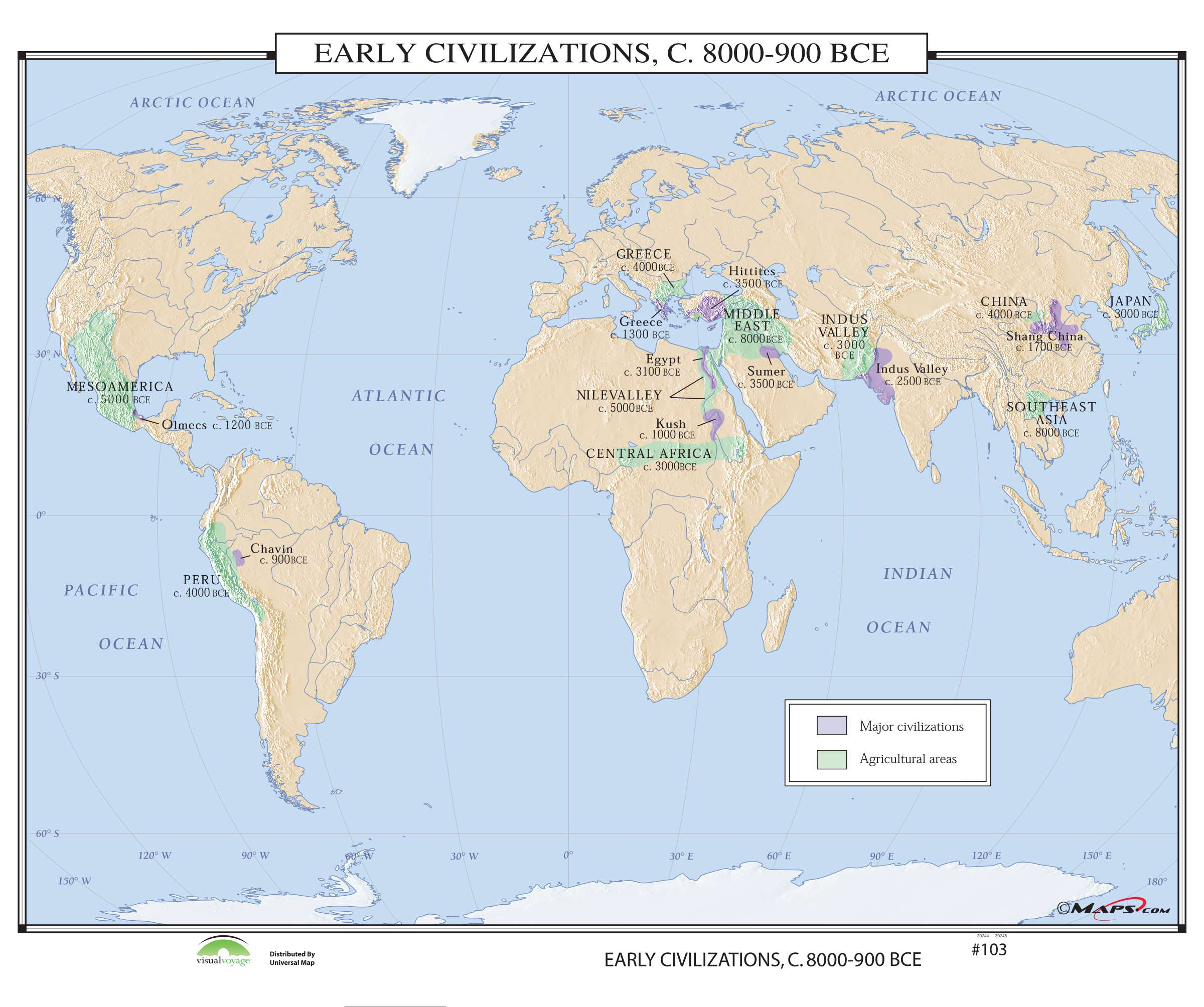 Early Civilizations Map