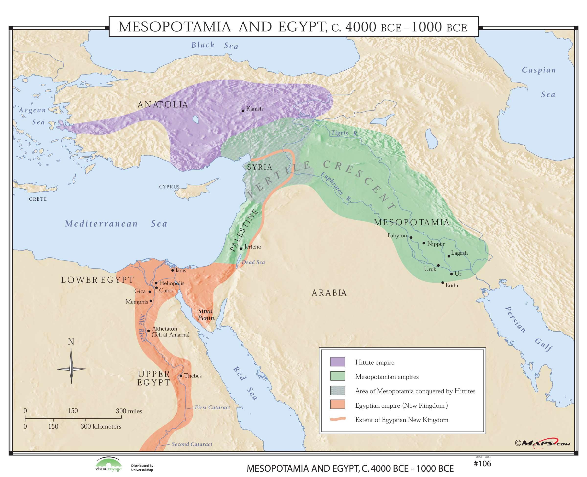 106 Mesopotamia Amp Egypt Bce Kappa Map Group