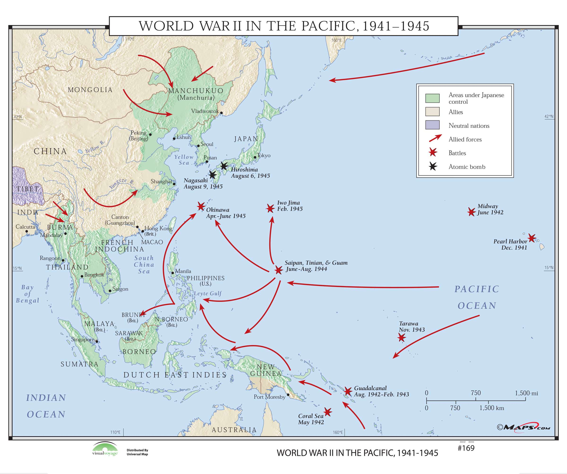 World War Ii In The Pacific Map Assignment
