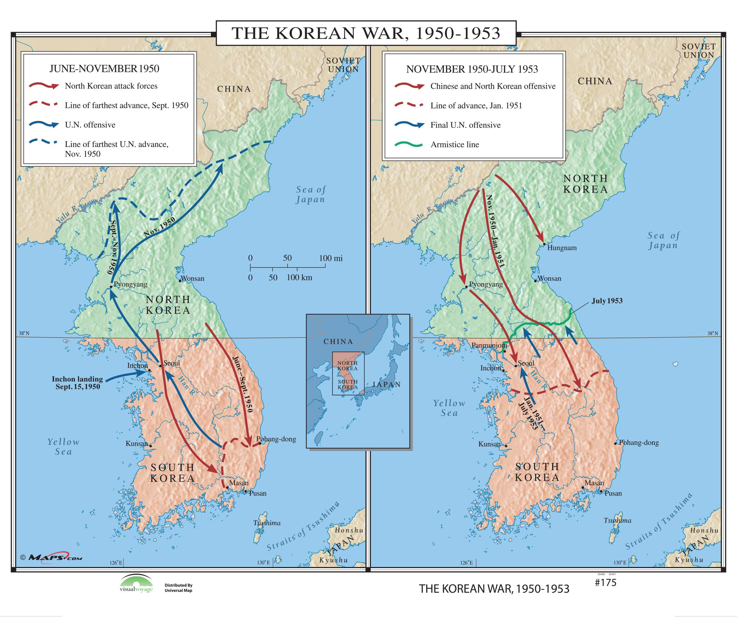 175 The Korean War Kappa Map Group