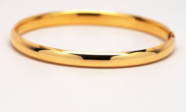 14k Yellow Gold Small Baby Bangle Bracelet - Kappy' Fine Jewelry
