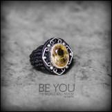 bague citrine cristal argent 925 macrame crystal quartz silver ring kaprisc creation 2014 (2)