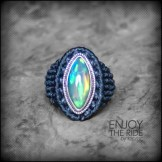 bague opale argent 925 macrame oapl silver ring kaprisc creation 2014 (1)