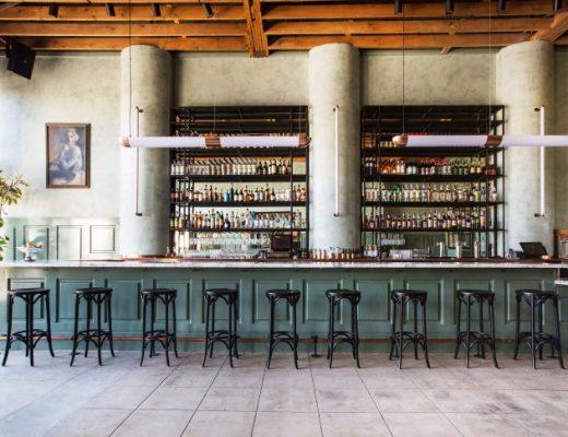 Standing inside Cafe Birdie, facing the bar