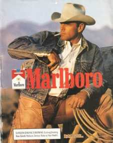 The iconic photo of the Marlboro Man