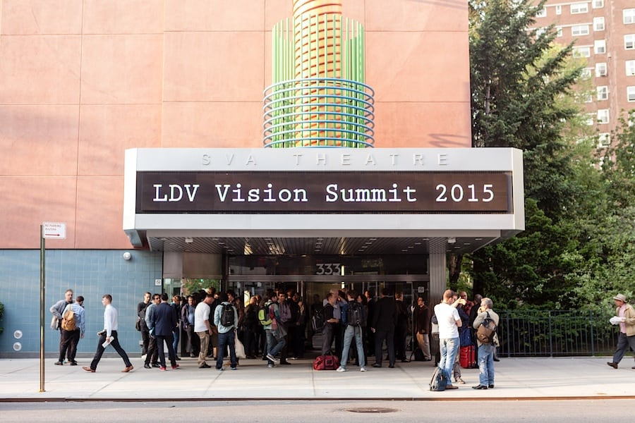 The SVA theatre in New York hosted the 2015 LDV Vision Summit