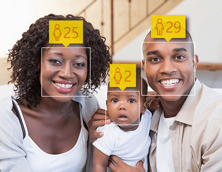 Microsoft's facial recognition engine can easily estimate age ( and gender) of subjects in a photograph