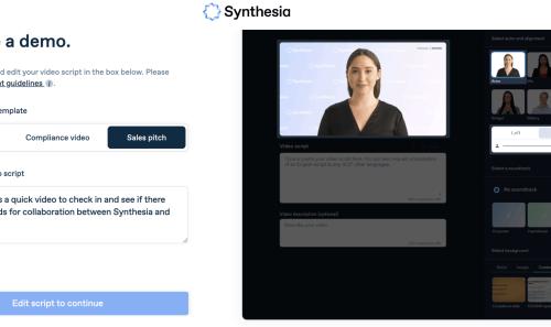 Synthesia screenshot