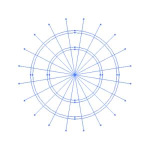 円と分割線の整列