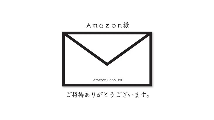 招待きた!Amazon Echo Dot