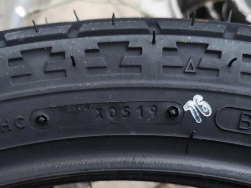 タイヤの製造年月日