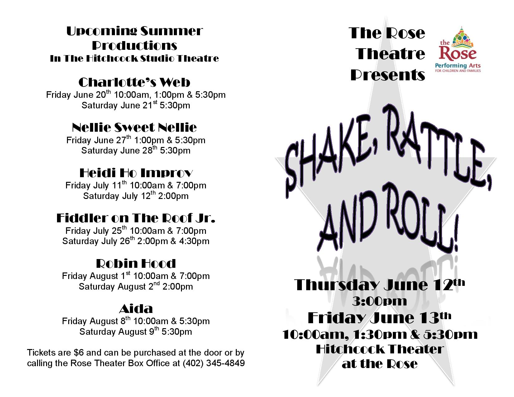 Shake, Rattle, & Roll!