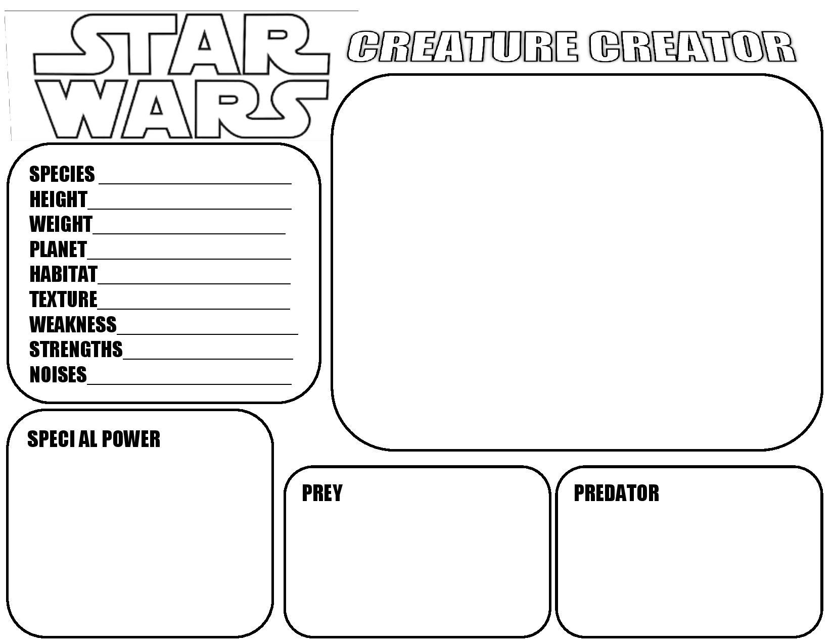 Parts A Star Worksheet