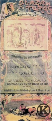 Cartel modernista de la Plaza de Vista Alegre (1910)