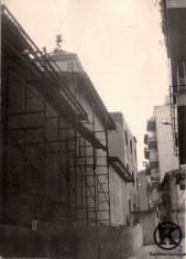 Iglesia de San Pedro durante su reconstrucción (finales de los año 70)