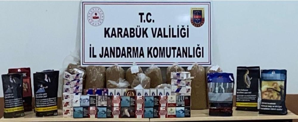 Safranbolu'da kaçak sigara operasyonu