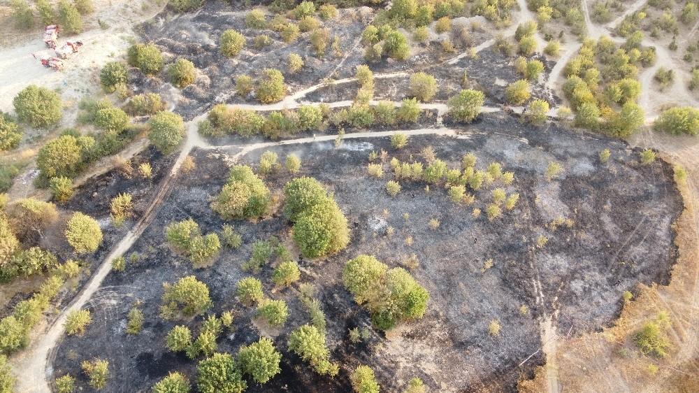 ATV'den çıkan yangın 3,5 dönümlük alanı yaktı