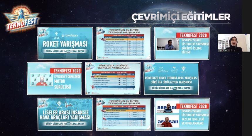 """""""Milli Teknoloji Hamlesi TEKNOFEST 2021 Bilgilendirme Semineri"""" çevrimiçi yapıldı"""