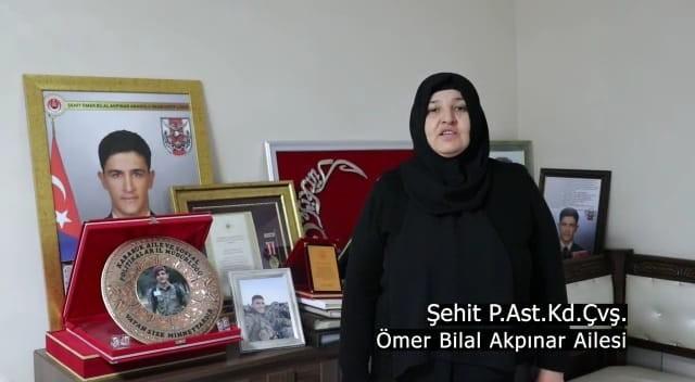 """Şehit aileleri ve gazilerden İstiklal Marşlı, """"Çanakkale"""" klibi"""