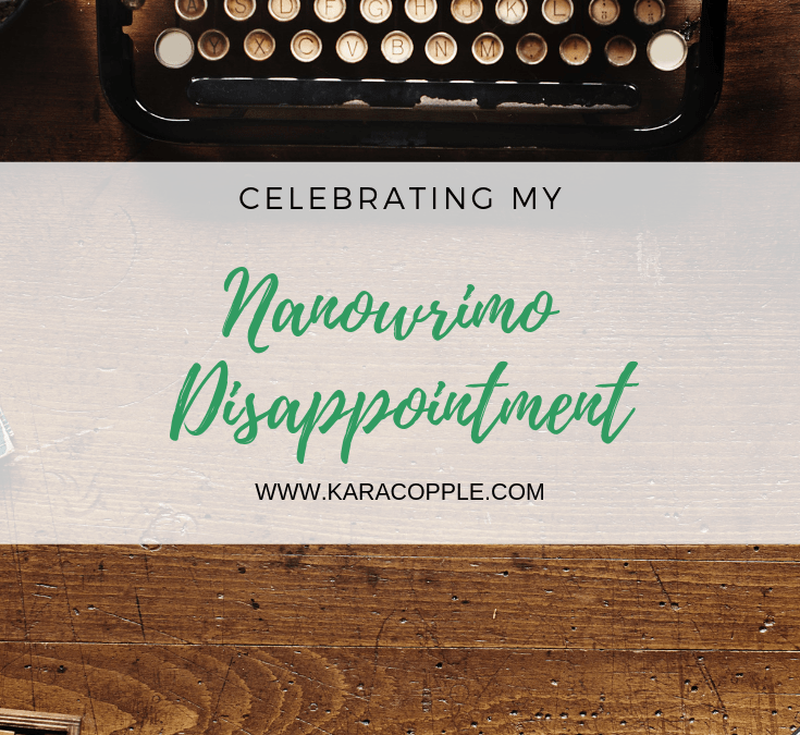 Celebrating Nanowrimo Disappointment – Where I'm At #3