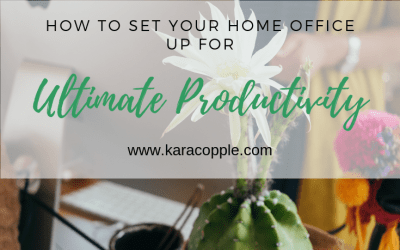 How to Set Your Home Office Up for Ultimate Productivity