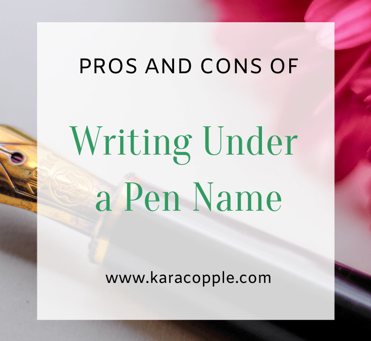 Should You Write Under a Pen Name? The Pros and Cons