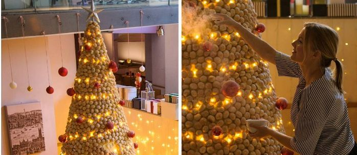 Ilyet még nem láttunk! Itt az ehető karácsonyfa