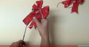 Hogyan készítsünk karácsonyi masnit? Videó, ötletek itt