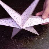Csináld magad: karácsonyi csillag papírból