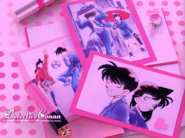 Shinichi and Ran in Pink