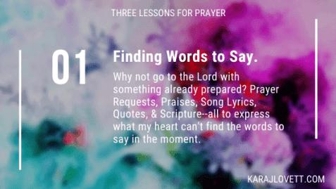 Prepared Prayers are Powerful - 1