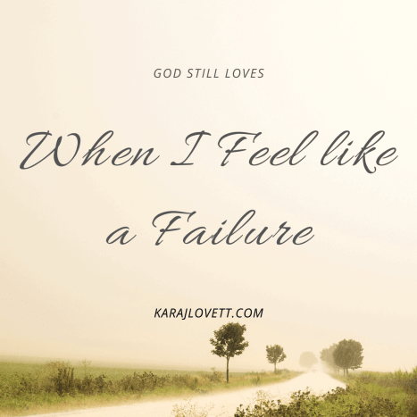 dealing with failure - God's love for us - 1