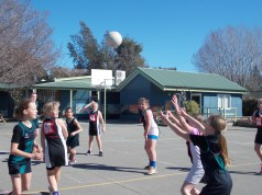 Round 1 of the games. The Netball A team won their game.