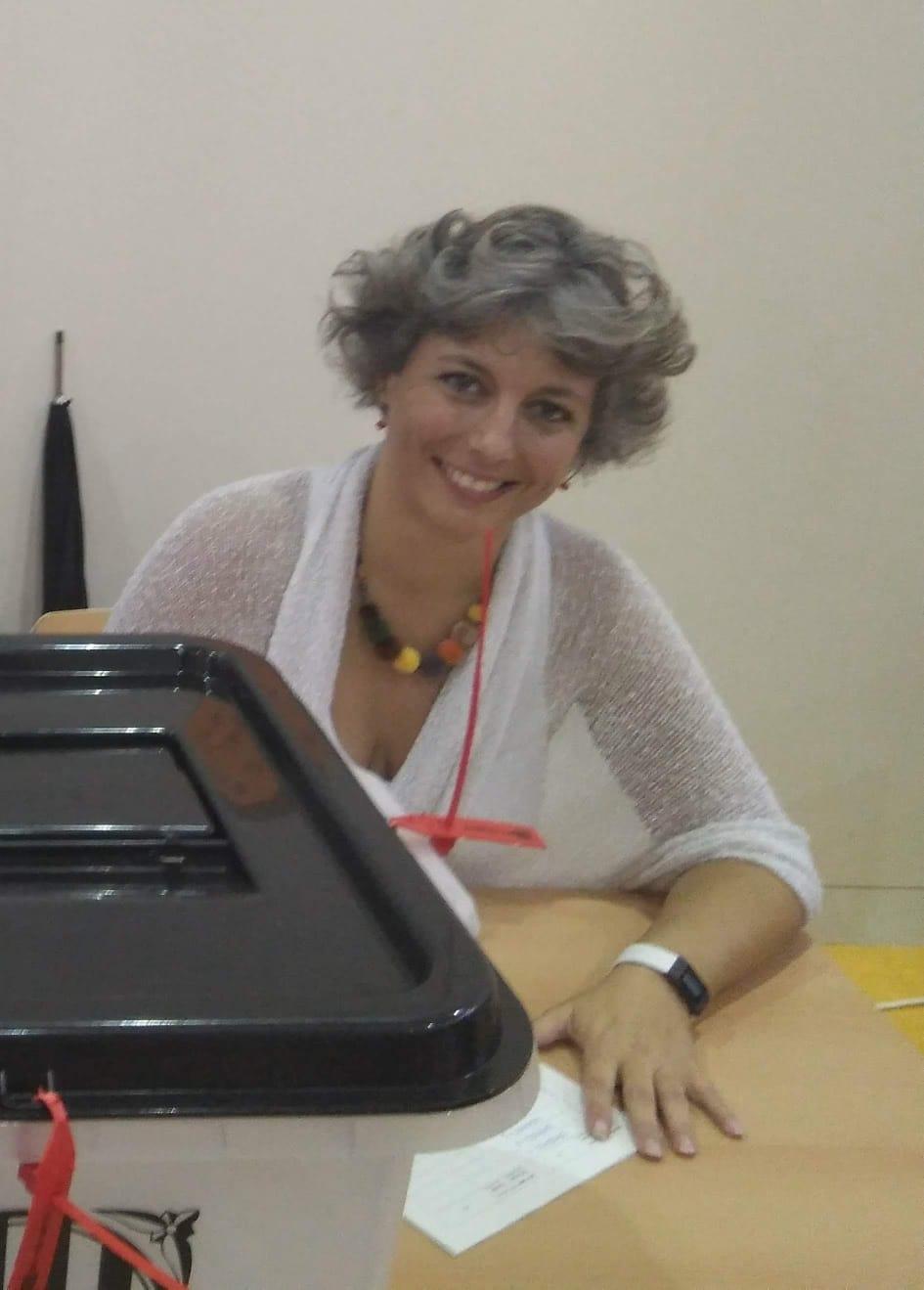 Ana balsošanas iecirknī 2017. gada 1. oktobrī. Foto: Ana Garcia