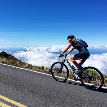 Climbing up the 10,000 feet to Haleakala. Ouchie! Photo by August Teague