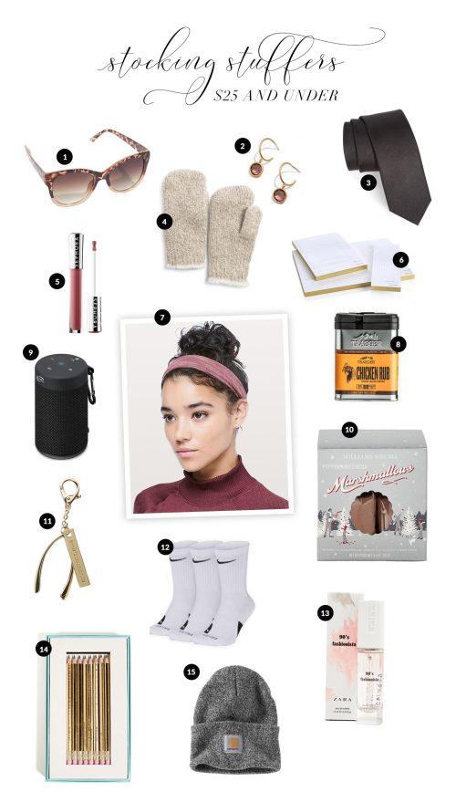 Our favorite stocking stuffer picks for under $25! #GiftGuide2018 #GiftGuides2018 #GiftGuideForMen #GiftIdeasForWomen #GiftIdeas #StockingStuffers