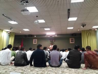 Eid prayer in Indonesian embassy in Paris