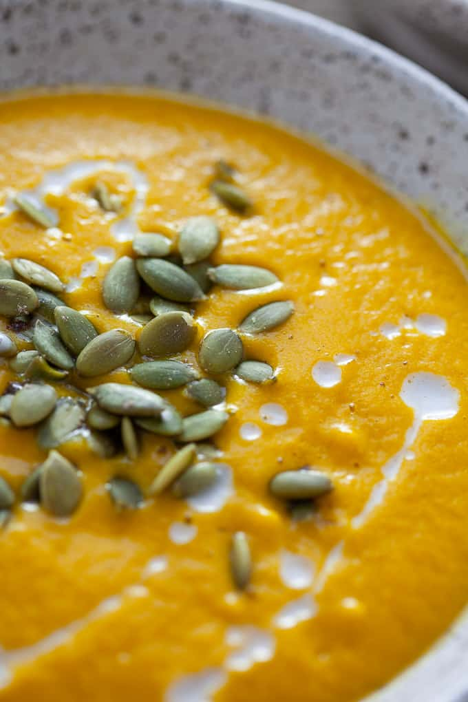 spiced roasted butternut squash soup - vegan-friendly!