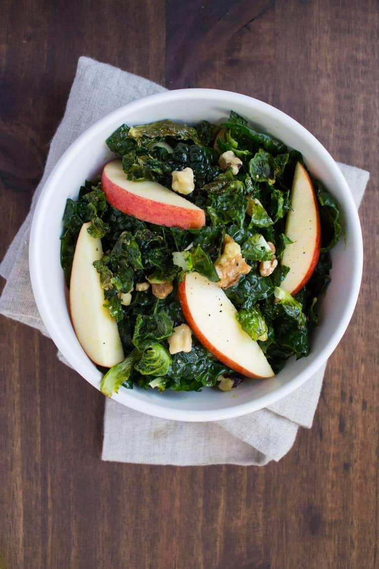 Kale Salad with Pumpkin Seed Oil | The Foodie Dietitian @karalydon