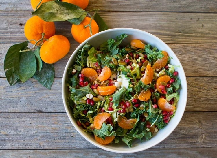 Holiday Winter Salad with Pomegranate and Satsuma-5