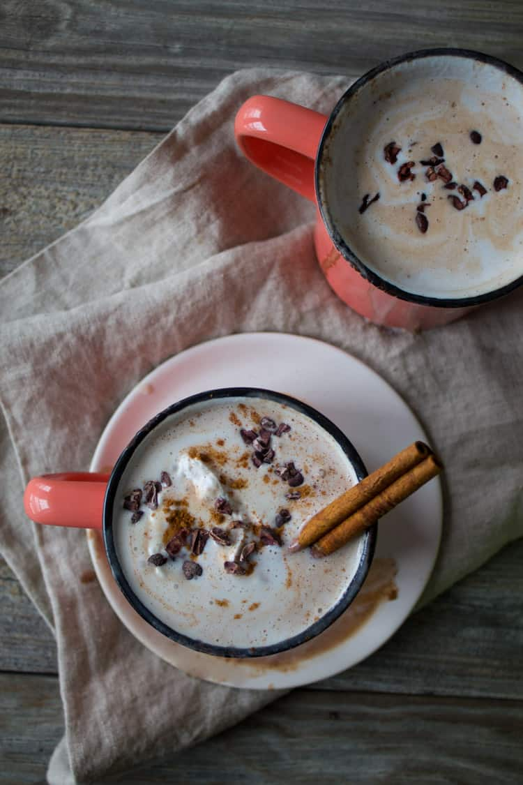 Vegan Boozy Mexican Spiced Hot Chocolate | @TheFoodieDietitian
